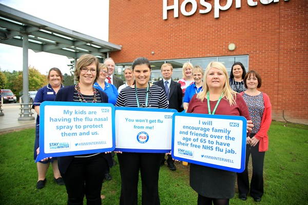 Health and care staff support flu vaccination campaign