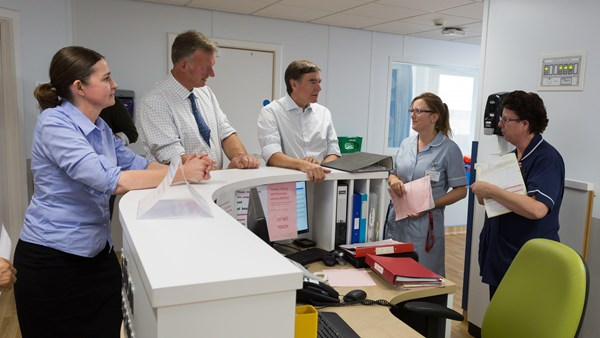 Minister of State for Health visits Wye Valley NHS Trust