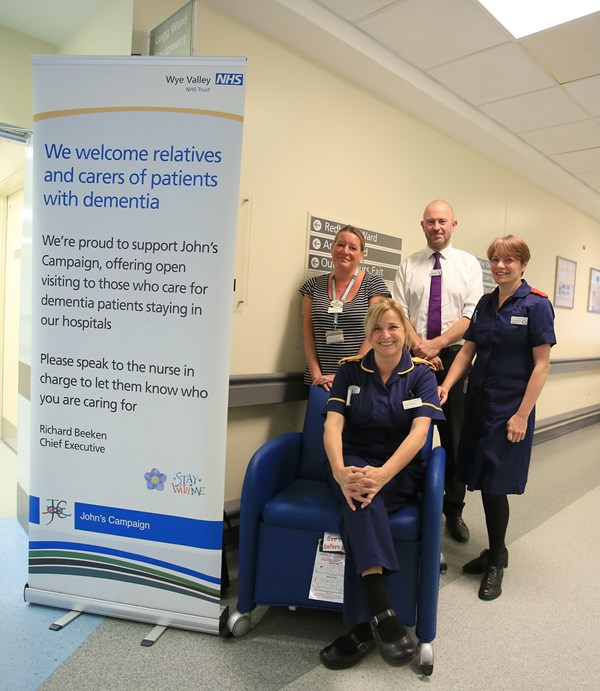 New reclining chairs for relatives of patients with dementia to stay overnight in hospital