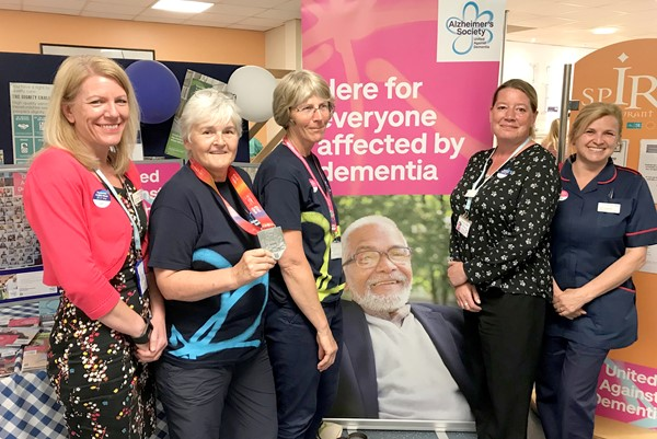 Dementia champions and Alzheimer's Society raise awareness of dementia