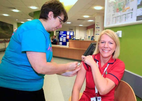 Staff flu vaccination