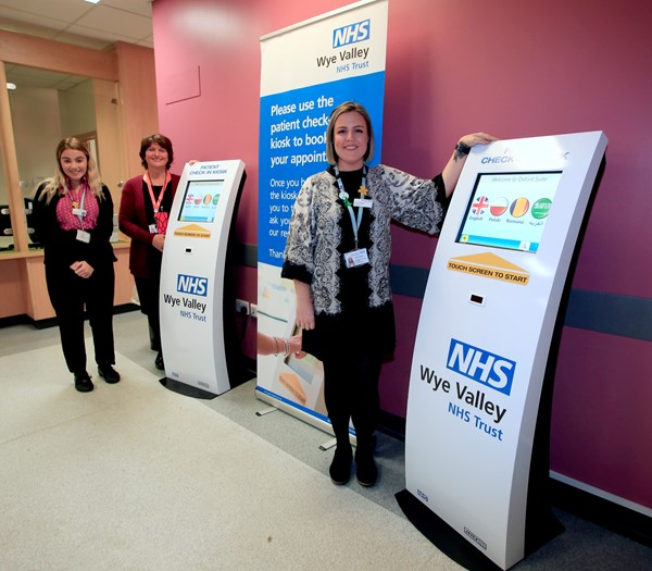 Pictured left to right are: Receptionist Evie Crawford, Shirley Michael and Oxford Suite Outpatients Team Leader Tanya Probart.