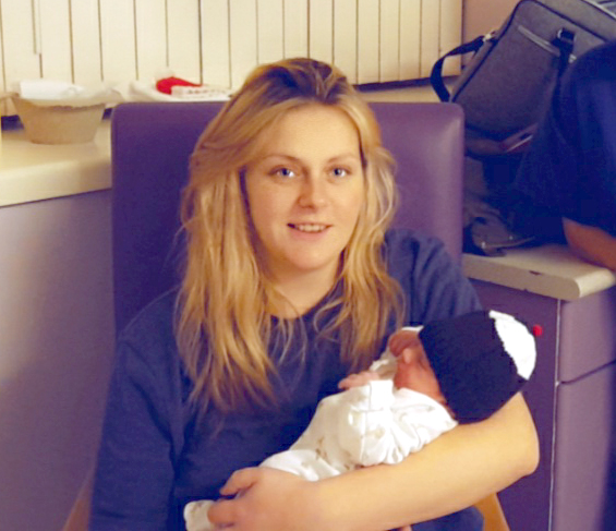 Isobel Kent-Smith with her baby boy – born at Hereford County Hospital in the early hours of Christmas Day 2020